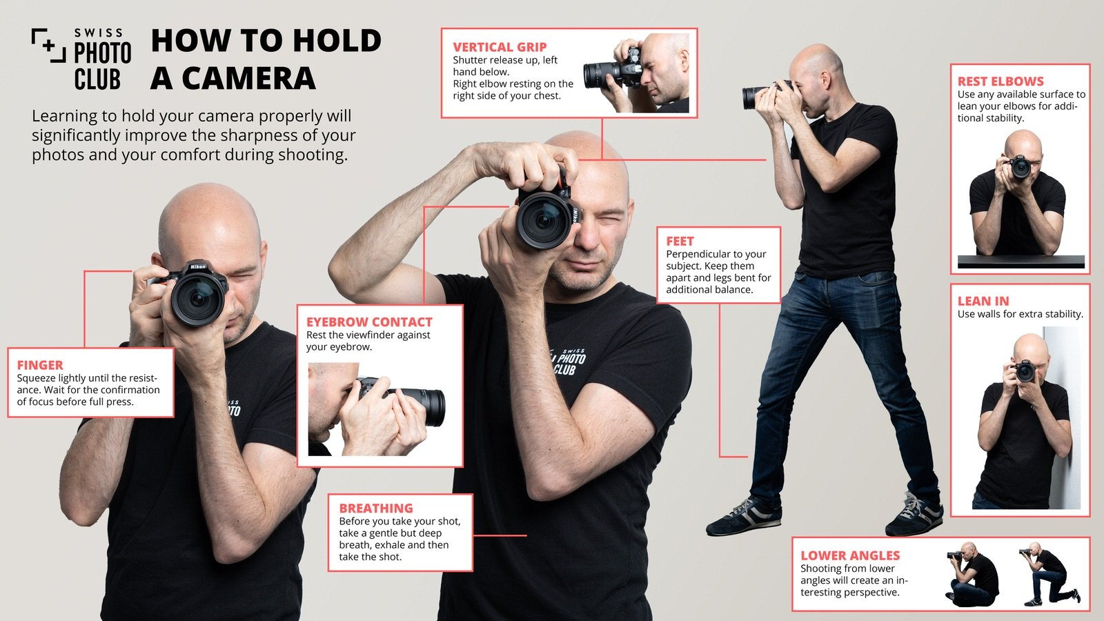 How to hold a camera - Swiss Photo Club